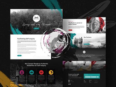 Pantala Yoga Website home website user interface home page homepage exercise melbourne australia movement web design yoga graphic design ux design ui design ux ui