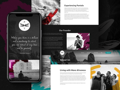 Pantala Yoga Sub Page website user interface subpages subpage graphic design movement exercise web design yoga ux design ui design ux ui australia melbourne