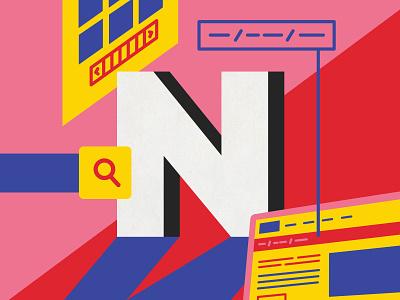 Navigation navigation ui illustrator alphabet graphic  design ui ux ux vector design australia digital art type 36 days of type illustration lettering typography melbourne