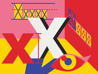 X-height design melbourne australia lettering vector typography type illustration ui 36 days of type