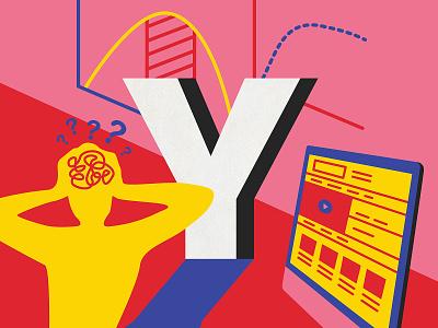 Yerkes-Dodson Law psychology australia design ui ux ux vector 36 days of type type illustration lettering typography melbourne