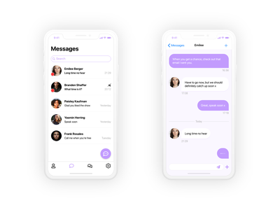 Daily UI 013 simple mobileapp mobile application messaging app messaging chat design ux ui adobe xd adobe adobexd dailyui013 dailyui