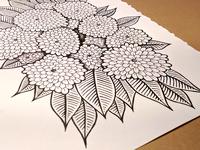 Flower doodle - finished