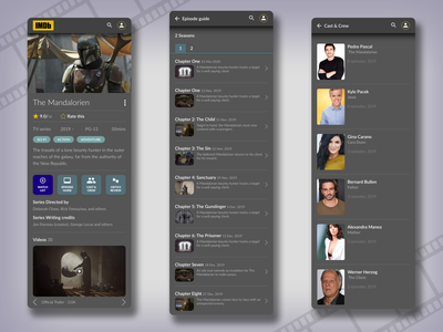 IMDb App Concept uidesign design mobile app web ux idmb mobile app ui concept