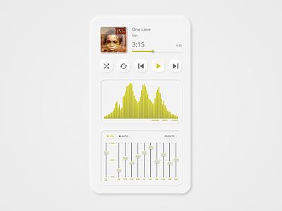 Daily UI 009 music player dailyui009 music neumorphism mp3 player mp3 adobe xd ux adobexd dailyui ui design