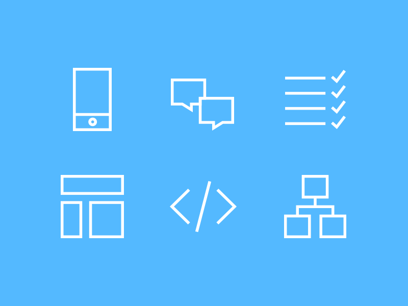 Process icons icons process line icons services simple outlines