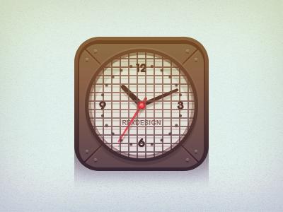 Clock Icon clock time icon flat ui vintage
