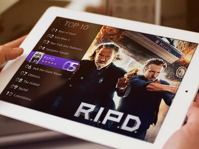 Movie Top10 top10 popular show ipad ui rex