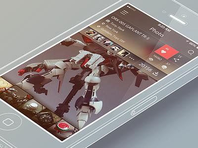 iPhone App UI (Albums ) app ui iphone ios7 album photo rex