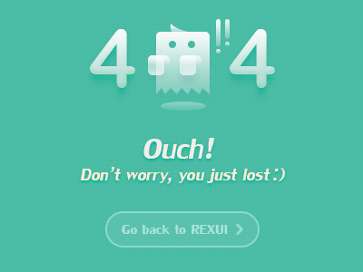Ouch!404  404 web page ouch rex china ui