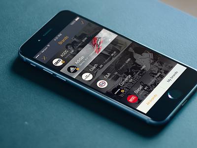 App UI design ios app brand rex ui list china shop