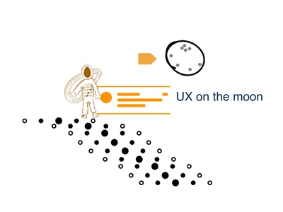 UX on the moon art concept design moonman graphicdesign illustration graphicux concept