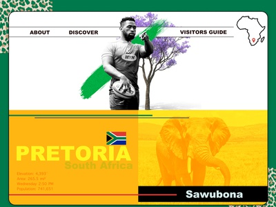 Pretoria - South Africa Landing Page graphicdesign webdesign pretoria landing page figma south africa