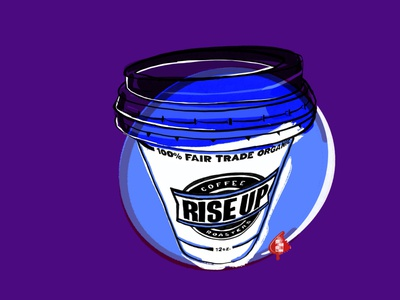 Rise Up Coffee coffee shop design artist digitalart art illustration coffee