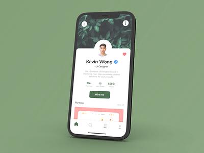 Profile Page - Daily UI 006 app ui ux graphic design design
