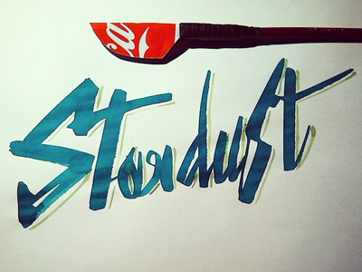 Stardust stardust colapen calligraphy lettering ink ruling pen