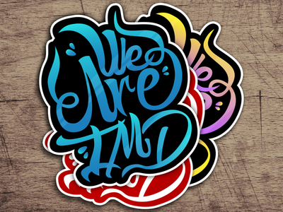 We Are IMD stickers ! stickers lettering type font graffiti we are imd