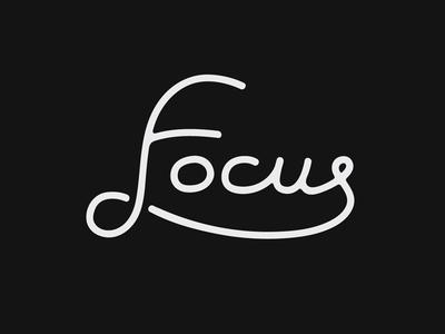 Focus Type lettering type focus minimalism minimal
