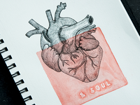 Heart & Soul illustration pen soul heart watercolor watercolour