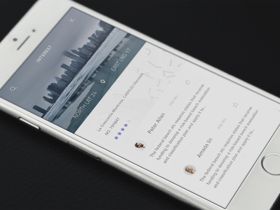 ToFind - Transition Test swip card interface detail info animation concept app ux ui