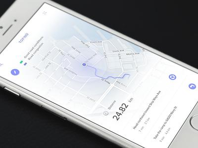 Tofind sneak peek #3 ui ux app concept map navigation comment travel card dialogue chat social