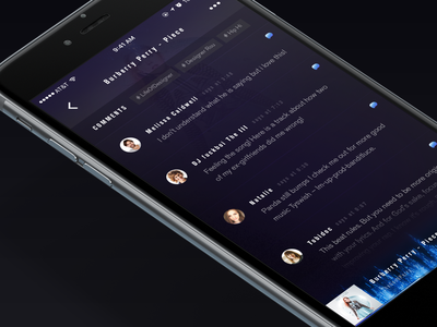 Music player transition ui ux app concept music song transition interation list wave audio