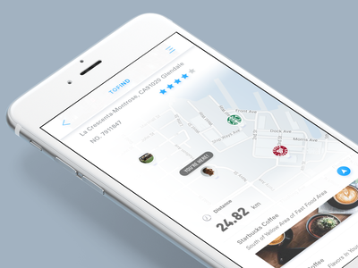 New Interaction Effect of ToFind's Cards Flow flow find social card travel navigation map concept app ux ui