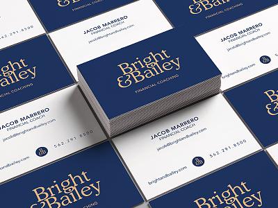 Bright & Bailey Business Cards business card branding brand logo mark logo identity design