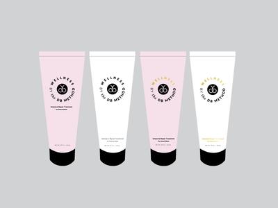 Wellness Cream mockup identity logo branding package design design