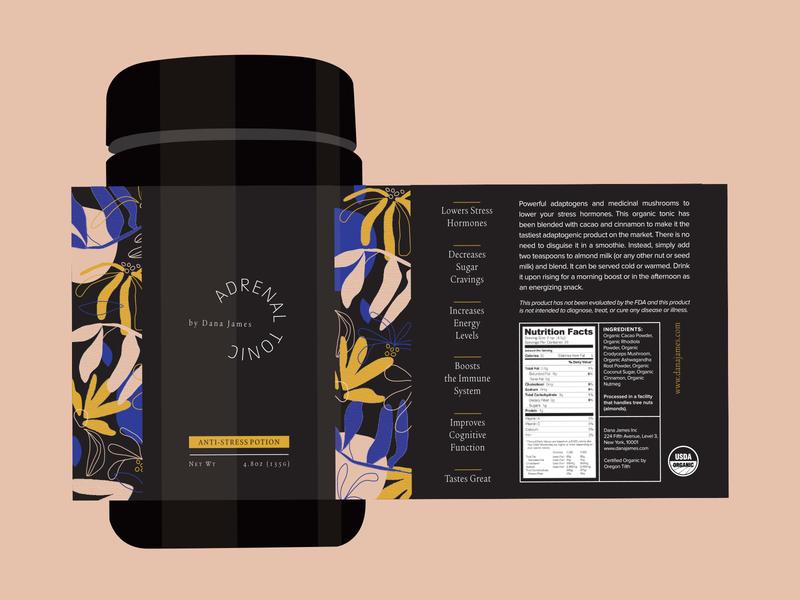 Adrenal Tonic brand color package design branding graphic design illustration identity design