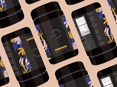Adrenal Tonic 02 mock up color package design branding graphic design illustration identity design