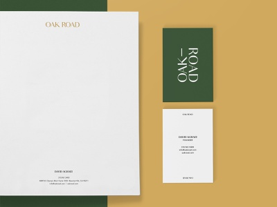 Oak Road Identity Suite business card letterhead brand typography branding logo graphic design identity design