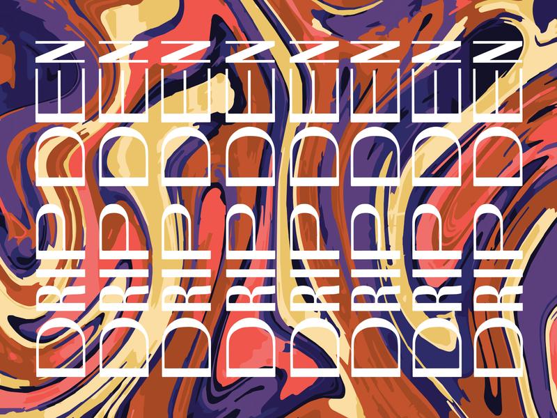 Drip Den marble typography color brand branding logo graphic design identity design