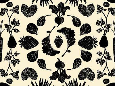 Wellthy fruits vegetables fruit fruit illustration pattern hand drawn branding illustration graphic design design