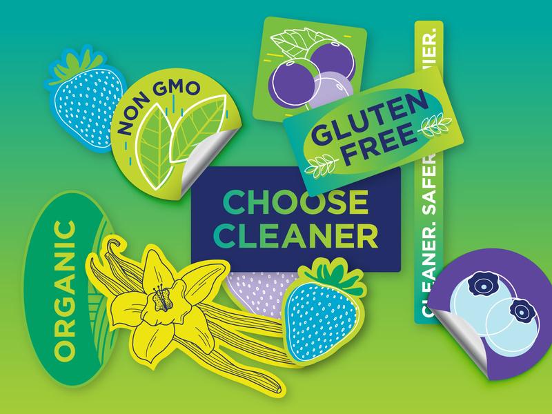 Clean Medicine Sticker Set stickers sticker design sticker hand drawn branding illustration graphic design identity design