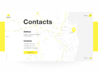 Geometric Website. Contacts.