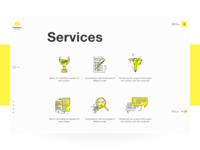 Geometric Website. Services.