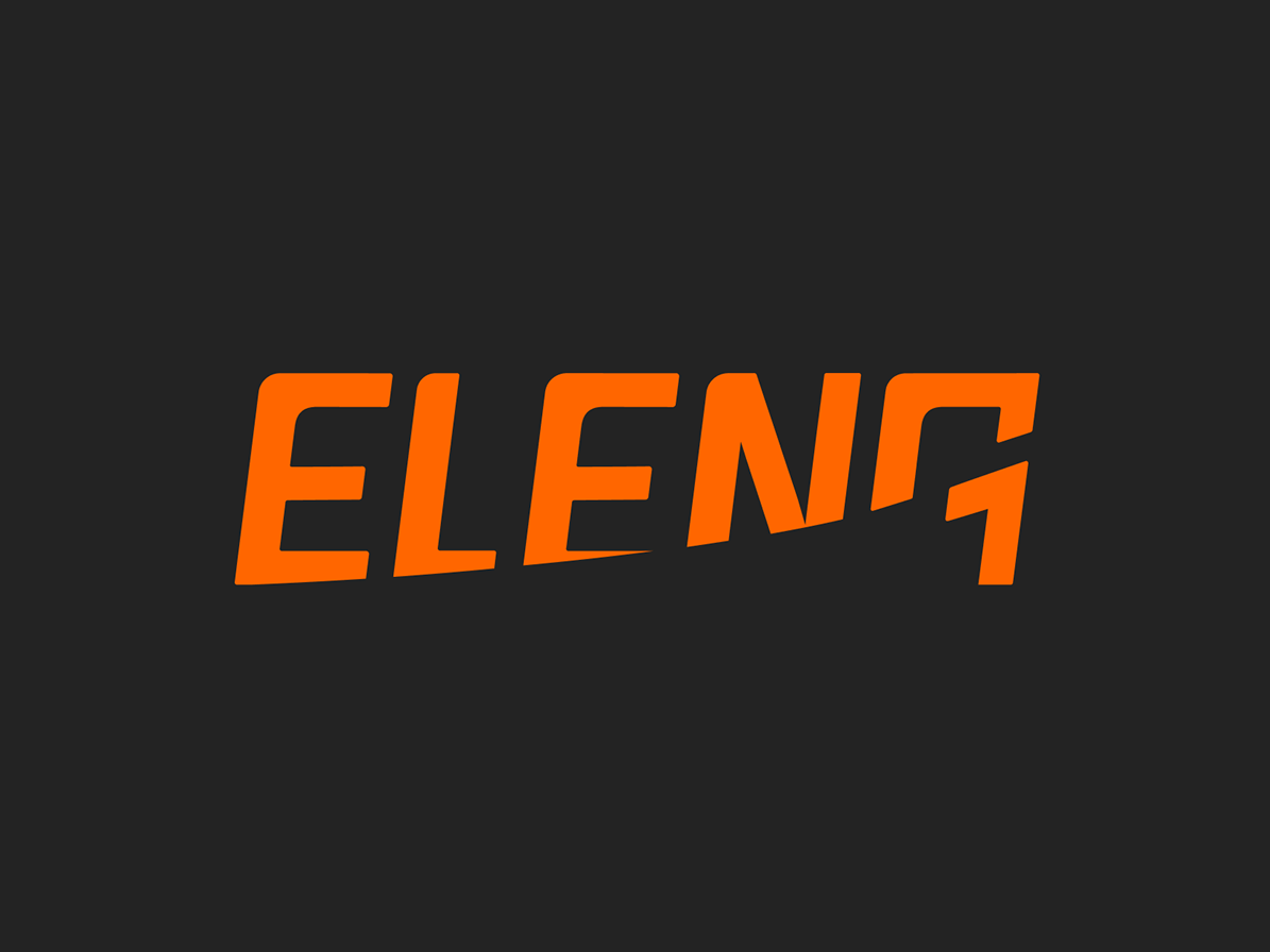 Eleng Logo nomber one numeral one 1 typography vector logo icon clean minimal