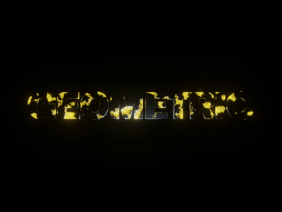 Facebook cover lava gold lighting lightning geometric word cinema 4d cinema4d aftereffects animation motion