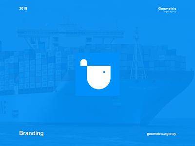 Shipping Transportation Company Logo Design cargo wale maritime marine sea shipping ship icon branding clean typography illustration vector logo minimal