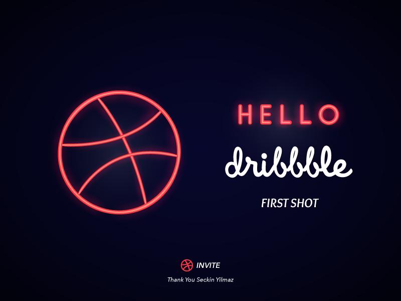 Hello Dribbble dribbble first shot hello dribbble