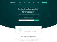 Dribbble tetherminer homepage