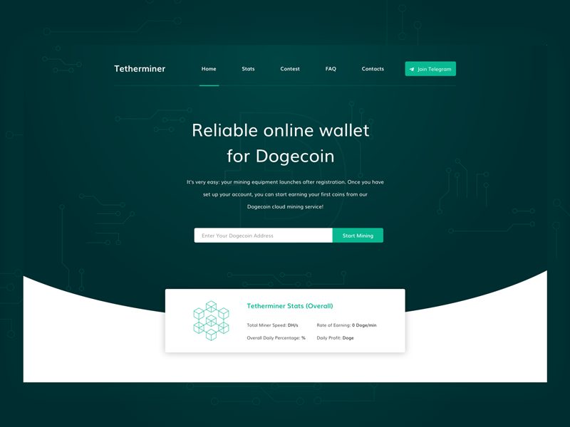 Dogecoin ui ux website site payment landing page design coin crypto dogecoin