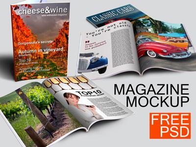 Magazine Mockup - FREE magazine mockup mock-up free
