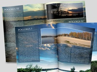 Pogoria lakes folder brochure design print folder lake