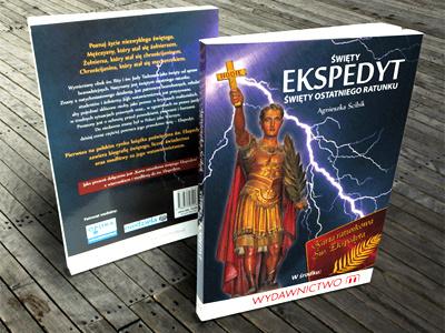Saint Expeditus saint expeditus book cover design