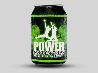 Power energy drink power energy drink can design packaging