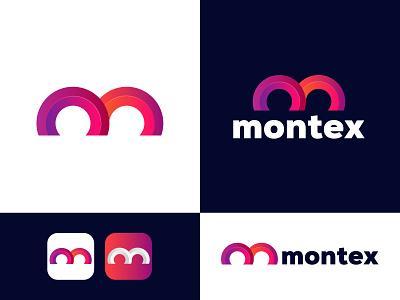 Montex M logo logo m logo web typogaphy tranding logo modern logo minimal icon grandient creative logo branding app logo design