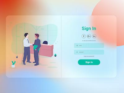 sign in clean minimal illustrator website web ux ui illustration graphic design design