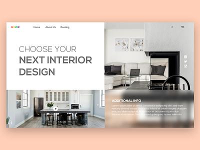 interior web design branding ui clean minimal illustrator illustration graphic design design